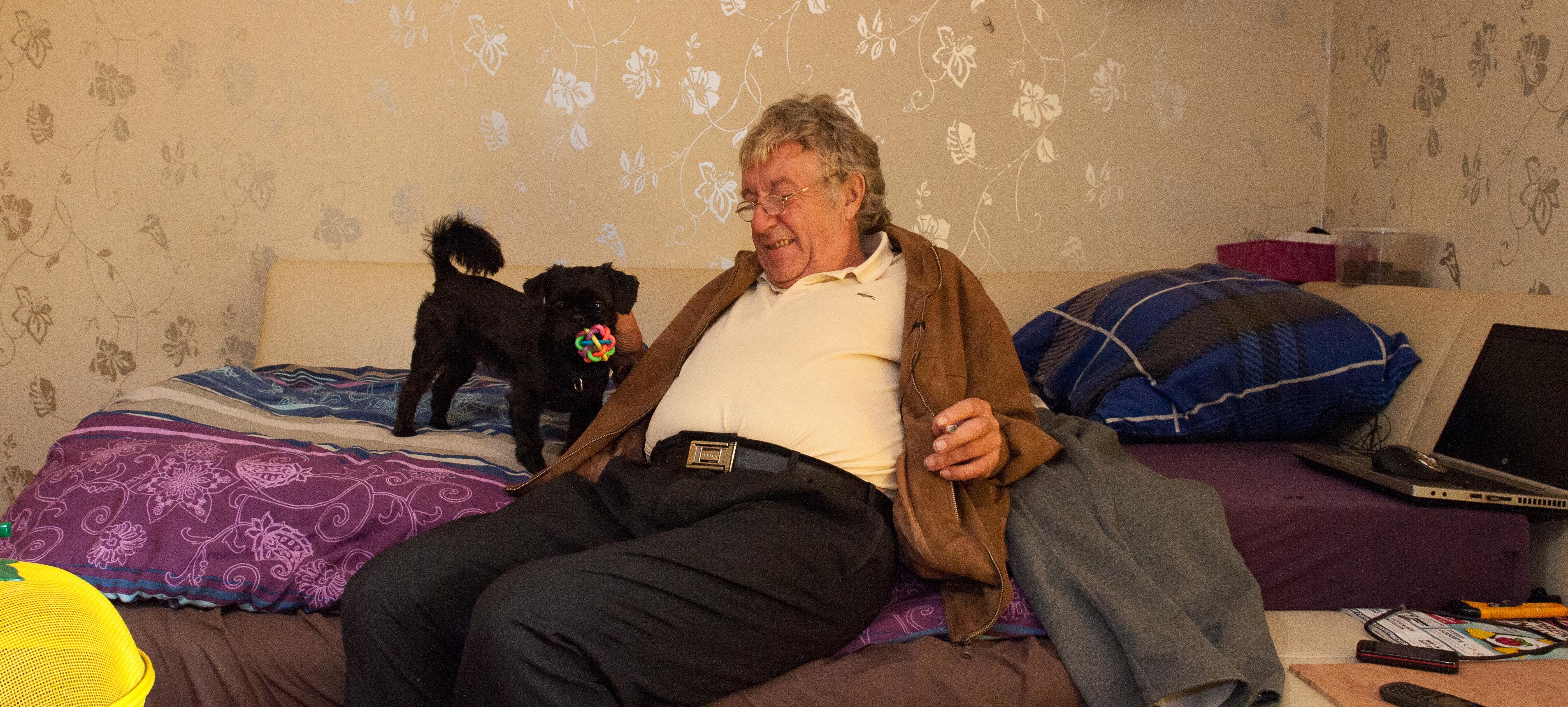 Gilbert in België, net teruggekeerd uit Kenia, 2014
